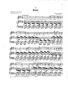 Seven Melodies for Voice and Piano, Op.2: Complete set by Ernest Chausson