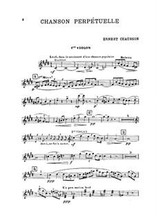 Chanson perpétuelle, Op.37: Full score, Parts by Ernest Chausson