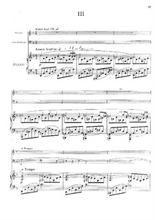 Piano Trio in G Minor, Op.3: Movements III-IV by Ernest Chausson