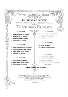 Twenty Pieces for Organ: Complete set by Alexis Chauvet