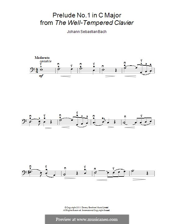 Ave Maria (Printable Sheet Music): For cello and piano – solo part by Johann Sebastian Bach, Charles Gounod