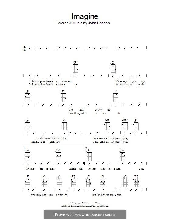 Imagine: Ukulele with strumming patterns by John Lennon