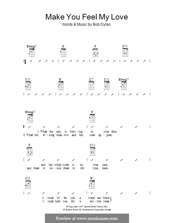 Make You Feel My Love: For ukulele with strumming patterns by Bob Dylan