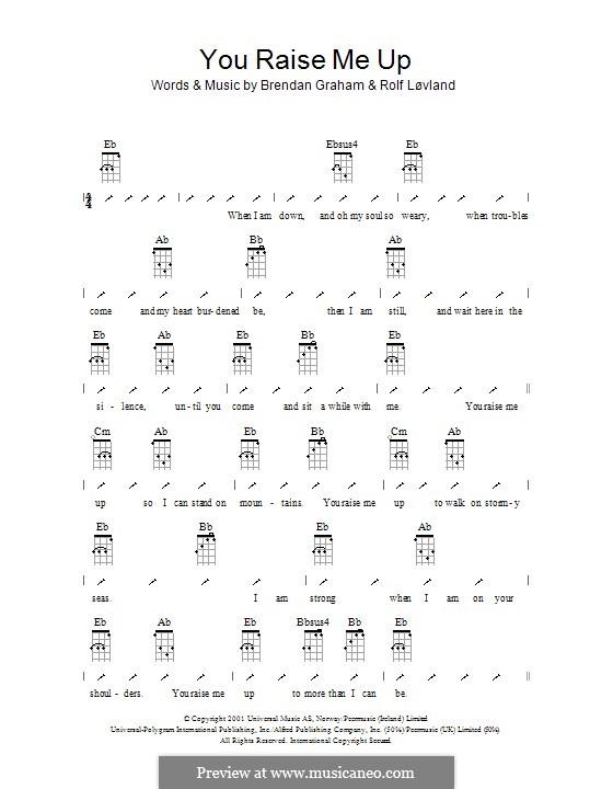 You Raise Me Up: Ukulele with strumming patterns by Brendan Graham, Rolf Løvland