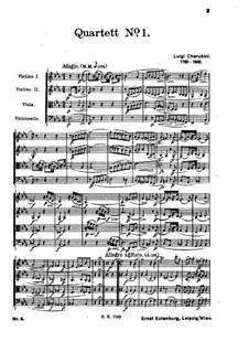 String Quartet No.1 in E Flat Major: Full score by Luigi Cherubini