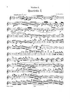 String Quartets No.1-3: Violin I part by Luigi Cherubini