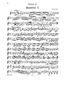 String Quartets No.1-3: Violin II part by Luigi Cherubini