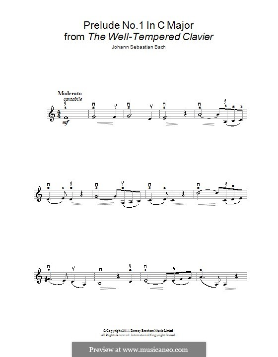 Ave Maria (Printable Sheet Music): For violin and piano – solo part by Johann Sebastian Bach, Charles Gounod
