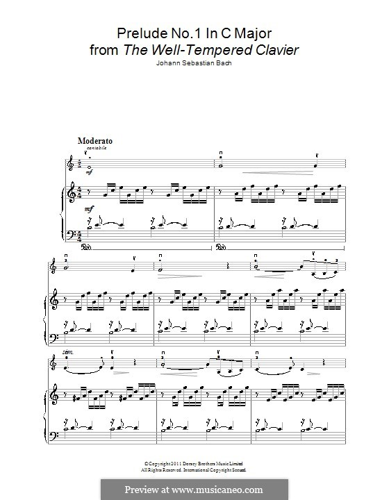 Ave Maria (Printable Sheet Music): For violin and piano by Johann Sebastian Bach, Charles Gounod