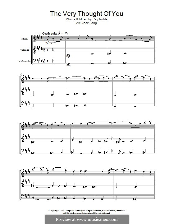 The Very Thought of You: For string ensemble by Ray Noble