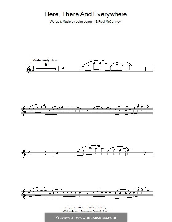 Here, There and Everywhere (The Beatles): For clarinet by John Lennon, Paul McCartney