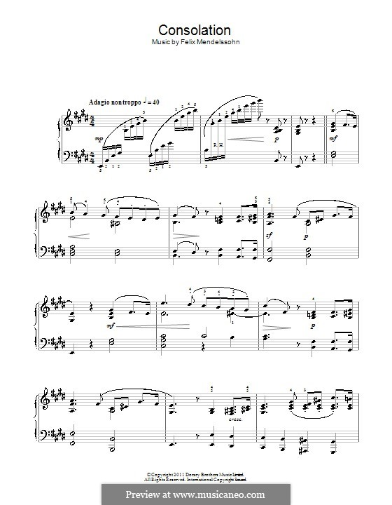 Songs without Words, Op.30: No.3 Adagio non troppo by Felix Mendelssohn-Bartholdy