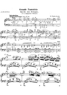 Grand Fantasia in A Major, Op.13: For piano by Frédéric Chopin