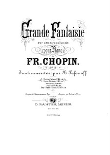 Grand Fantasia in A Major, Op.13: For two pianos four hands by Frédéric Chopin