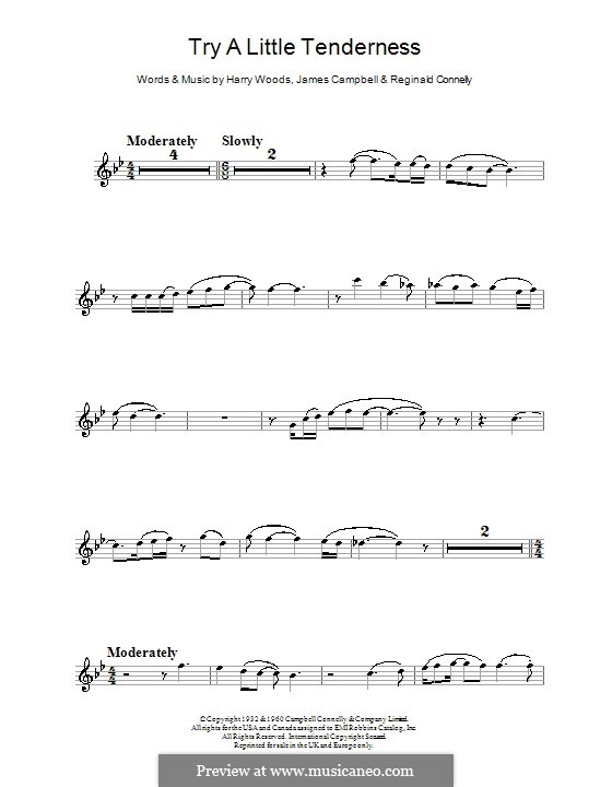 Try a Little Tenderness: For flute by Harry Woods, Jimmy Campbell, Reginald Connelly