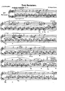 Nocturnes, Op.15: Complete set by Frédéric Chopin