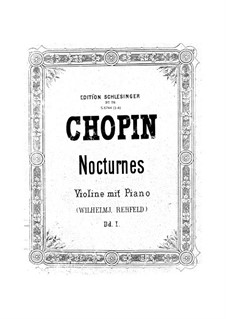 Nocturnes, Op.15: No.2, for violin and piano by Frédéric Chopin