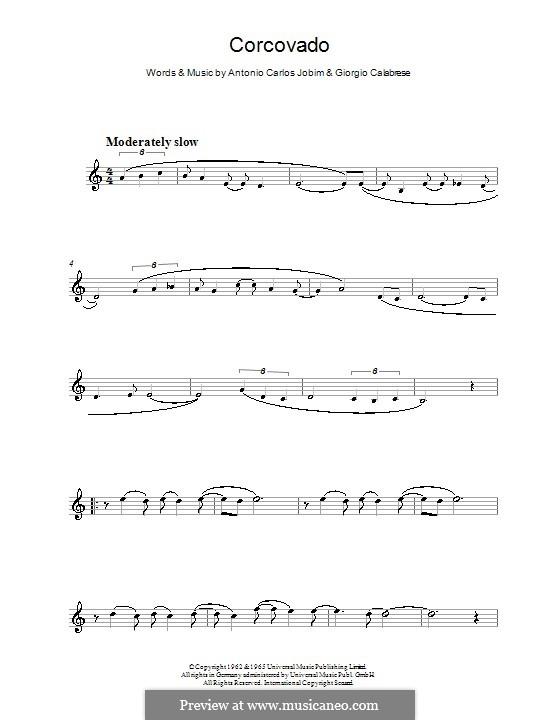 Corcovado (Quiet Nights of Quiet Stars): For flute by Antonio Carlos Jobim