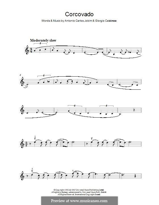 Corcovado (Quiet Nights of Quiet Stars): For violin by Antonio Carlos Jobim