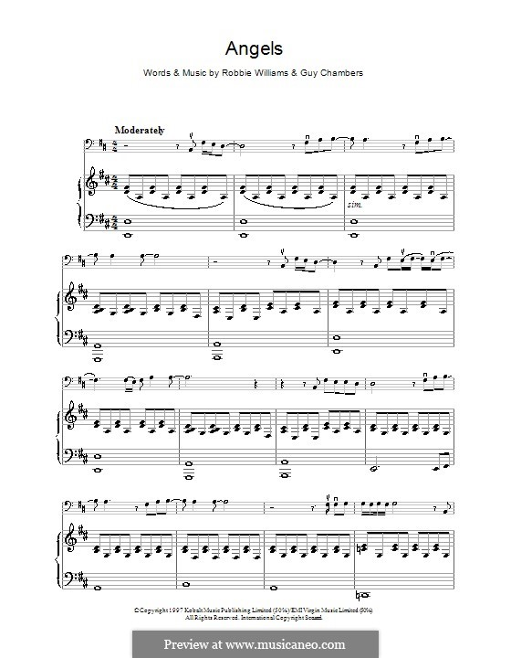 Angels: For cello by Guy Chambers, Robbie Williams