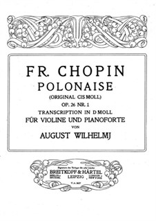 Polonaises, Op.26: No.1, for violin and piano by Frédéric Chopin