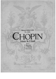 Scherzo No.2 in B Flat Minor, Op.31: For two pianos four hands by Frédéric Chopin