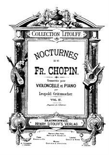 Nocturnes, Op.32: No.1, for cello and piano by Frédéric Chopin
