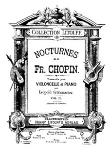 Nocturnes, Op.48: No.1, for cello and piano by Frédéric Chopin