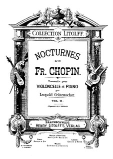 Nocturnes, Op.55: No.2, for cello and piano by Frédéric Chopin