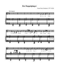 No.13 Der Doppelgänger (The Double): Piano-vocal score by Franz Schubert