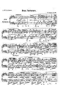 Nocturnes, Op.62: Complete set by Frédéric Chopin
