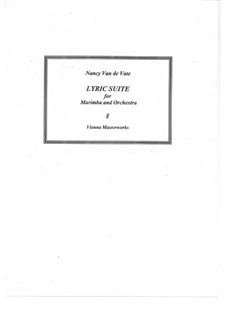 Lyric Suite for Marimba and Orchestra: Full score by Nancy Van de Vate