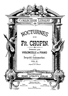 Nocturnes, Op.62: No.1, for cello and piano by Frédéric Chopin