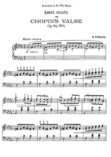 No.1 in D Flat Major: For piano. First version by Ferrata by Frédéric Chopin