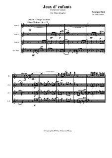 Petite Suite for Orchestra: Version for Flute Quartet by Georges Bizet