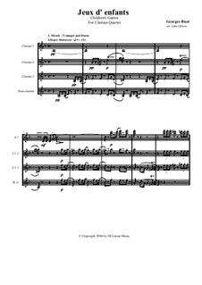 Petite Suite for Orchestra: Version for Clarinet Quartet by Georges Bizet