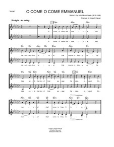 O Come O Come Emmanuel: Vocal, flute, jazz sax section by Unknown (works before 1850)
