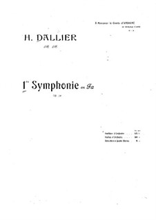 Symphony No.1 in F Minor, Op.50: Symphony No.1 in F Minor by Henri Dallier