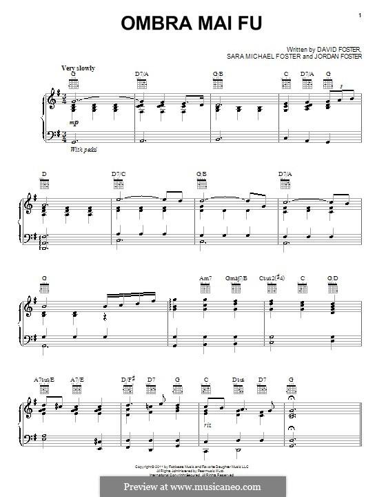 Ombra mai fu: For piano by Georg Friedrich Händel