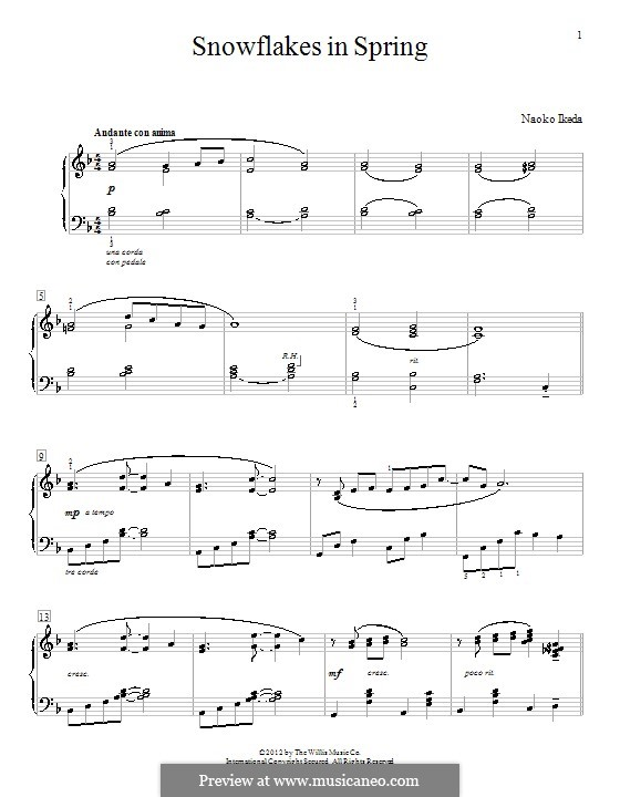 Snowflakes in Spring: For piano by Naoko Ikeda