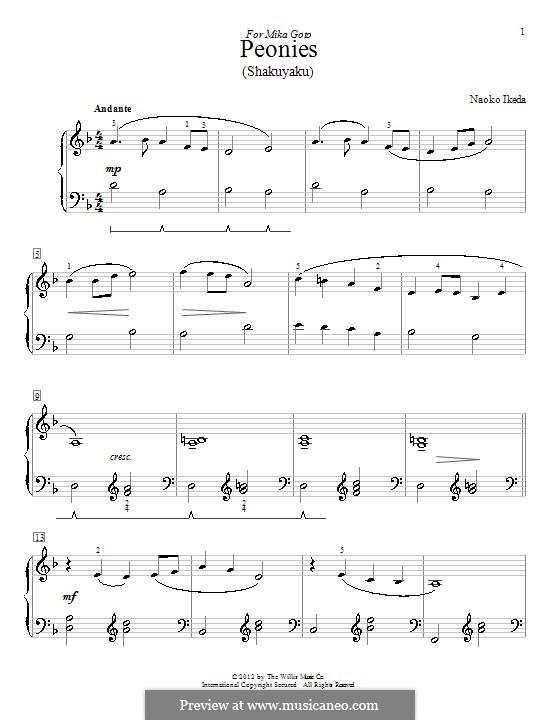Peonies (Shakuyaku): For piano by Naoko Ikeda
