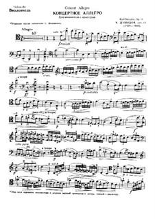 Allegro de concert, Op.11: Solo part by Karl Julevich Davydov