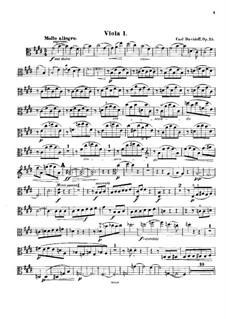 String Sextet in E Major, Op.35: Viola I part by Karl Julevich Davydov