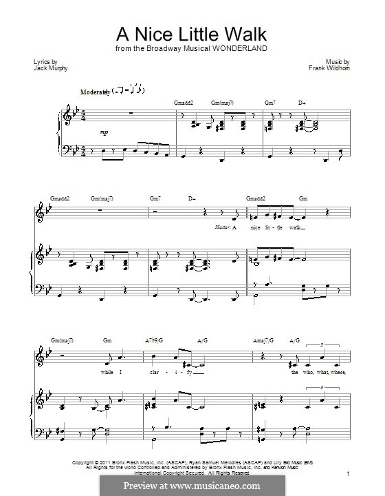 A Nice Little Walk: For voice and piano (or guitar) by Frank Wildhorn