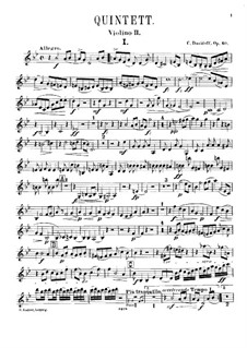 Piano Quintet in G Minor, Op.40: Violin II part by Karl Julevich Davydov