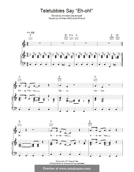 Teletubbies Say 'Eh-oh!': For voice and piano (or guitar) by Andrew McCrorie-Shand