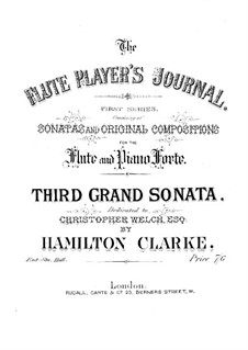 Grand sonata No.3 in B flat major for flute and piano, Op.221: Flute part by Hamilton Clarke