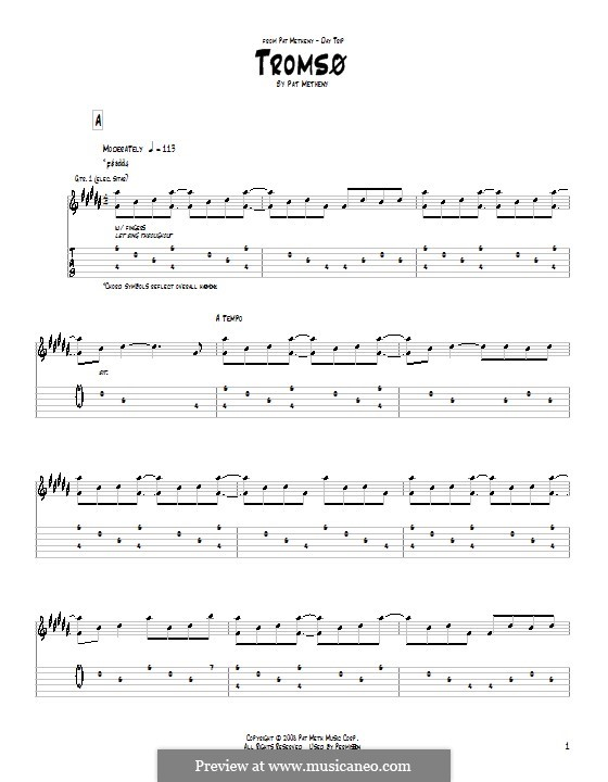 Tromso: For guitar by Pat Metheny