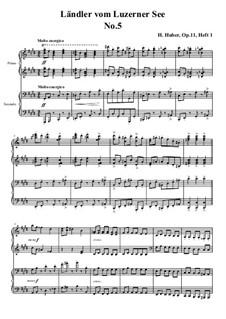 Fünfzehn Ländler vom Luzerner See, Op.11: Ländler Nr.5 by Hans Huber