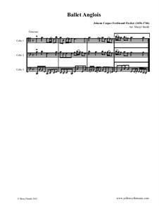 Ballet Anglois: For three cellos by Johann Caspar Ferdinand Fischer